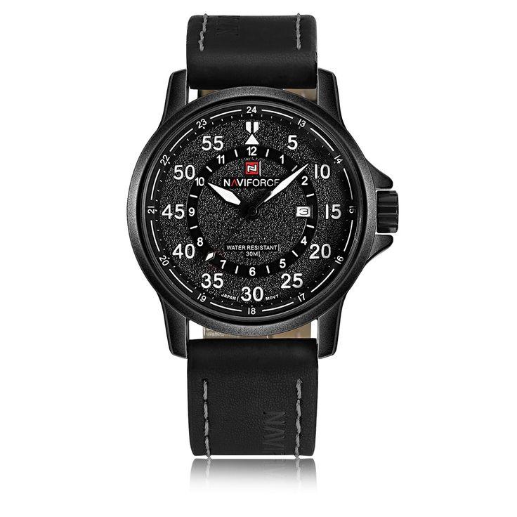 NAVIFORCE 9076 Fashion Waterproof 24 Hours Display Men Quartz Watch
