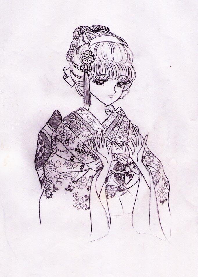 """mariko in my version - from """"Yokohama"""" (manga)"""