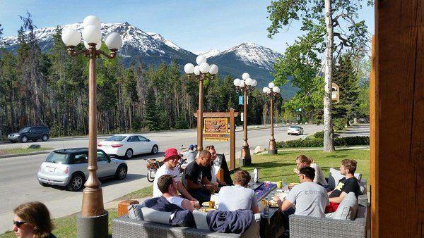 Good People, Great View, Wicked Coffee!   * Patio Now Open  #JasperNationalPark