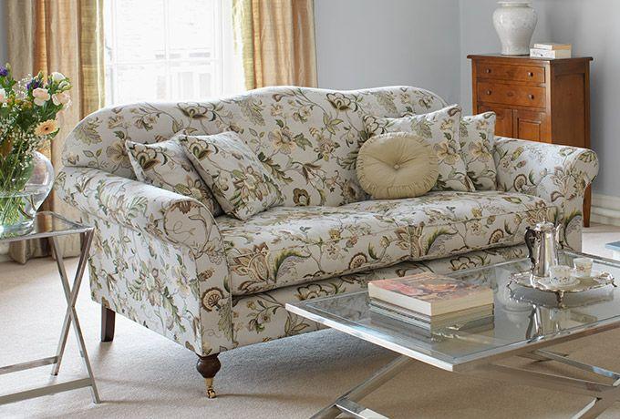 Hinton sofa in Titley & Marr Langrish, aqua