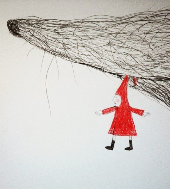Love Little Red Ridding Hood (Detail) by Hazel Terry