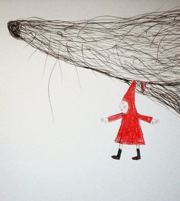 Love Little Red Ridding Hood (Detail) by Hazel Terry