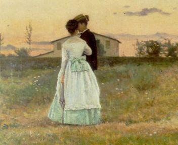 Silvestro Lega- I fidanzati