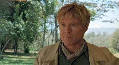 Rob Redford's dimples in Out of Africa