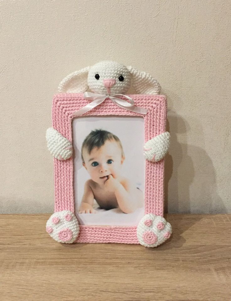 cadre photo petit lapin au crochet amigurumi pinterest hantverk och inspiration. Black Bedroom Furniture Sets. Home Design Ideas