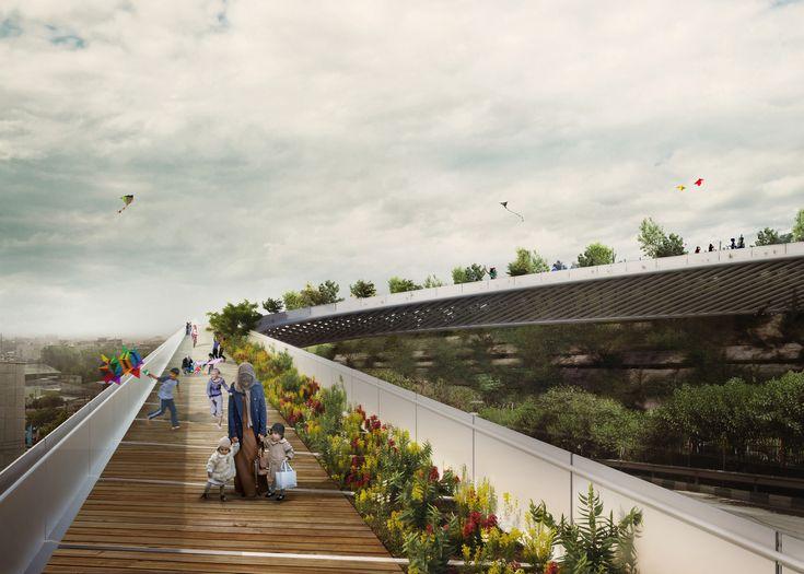 Gallery - 2rd Skin Architects' Haghani Pedestrian Bridge Folds Over Iranian Highway - 1
