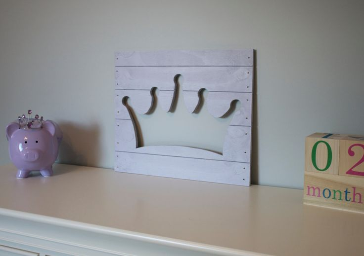 Crown Decoration For Wall : Princess crown wood cutout wall art