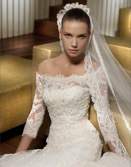 Confiram alguns modelos de vestidos de noiva com manga :