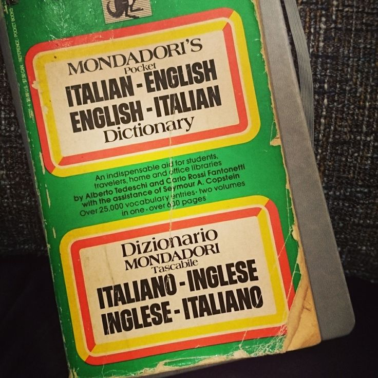 Colleagues, do you have a trusty sidekick that sticks with you through the years? This is my very first translation tool, my Italian-English Dictionary. My grandmother bought this for me when she discovered how intent I was on learning Italian, and 20 years later, here we are. 🍀 #EscobarRamsey #Panama #Translation #Interpretation #Traduccion #Interpretacion #Traduzione #Interpretazione #Ingles #Español #Italiano #English #Spanish #Italian #Inglese #Spagnolo