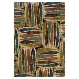 Rug with a multicolor leaf motif. Made in the USA.  Product: RugConstruction Material: PolypropyleneColor: Multi Note: Please be aware that actual colors may vary from those shown on your screen. Accent rugs may also not show the entire pattern that the corresponding area rugs have.