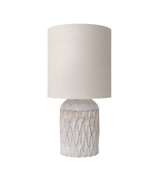 HK-living Tafellamp Terracotta fles wit 25x25x50cm - wonenmetlef.nl