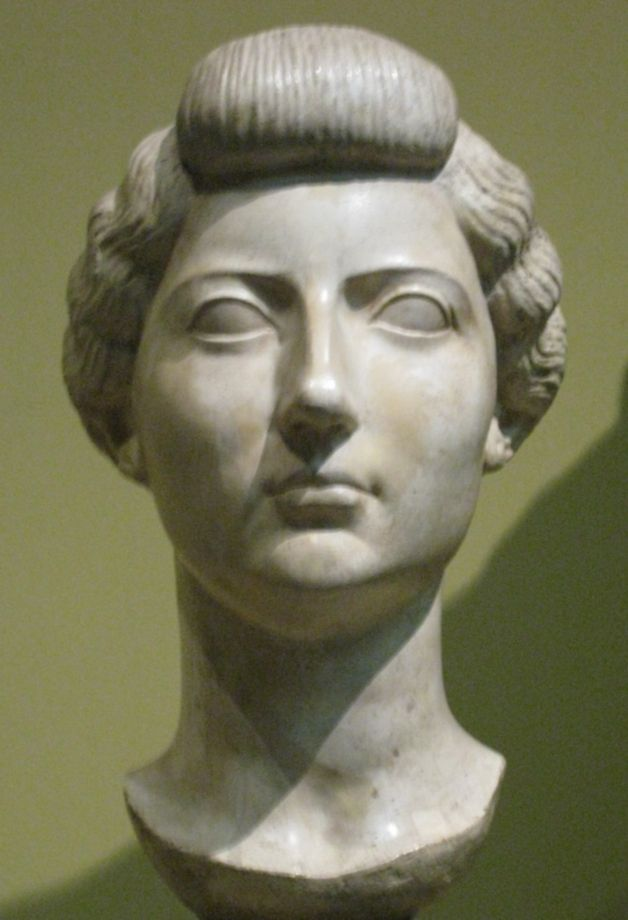 Livia Drusilla, the first empress of Rome, lived from 58 BC to 29 AD. Livia was first married to Tiberius Claudius Nero, who she had her son Tiberius by. When Livia met Octavian, he fell in love with her: Octavian was also married at the time, to Scribonia. On the same day that Scribonia gave birth to Octavian's daughter Julia, he divorced her, and then forced Livia's divorce. Livia and Octavian (Augustus) would be married for over 50 years - Livia was his constant adviser.