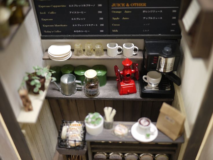17 Best Images About Miniature Coffee Shop On Pinterest