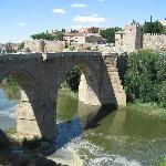 Moorish bridge (Bridge of San Martin) in Toledo
