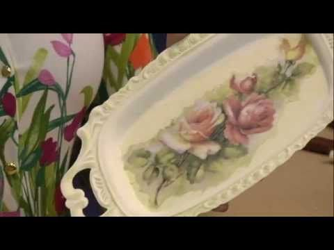 Programa Artesanato sem Segredo - Bandeja reciclada com papel arroz - YouTube