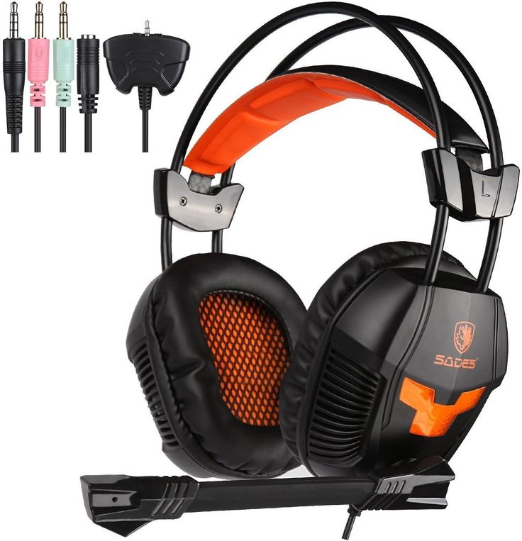Sades SA921 Stereo Gaming Headset Over Ear Computer Headphone With Mic 3.5mm Jack For PC/XBOX ONE/PS4 Orange: Soft… #coupons #discounts