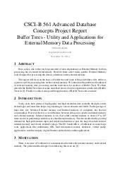 Buffer Trees - Utility and Applications for External Memory Data Processing