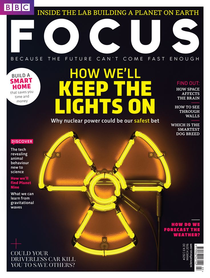 The latest issue of BBC Focus Magazine on sale from today! Why Nuclear Power might be the safest option for the Earth's power needs. Plus, could your driverless car kill you to save others? www.sciencefocus.com