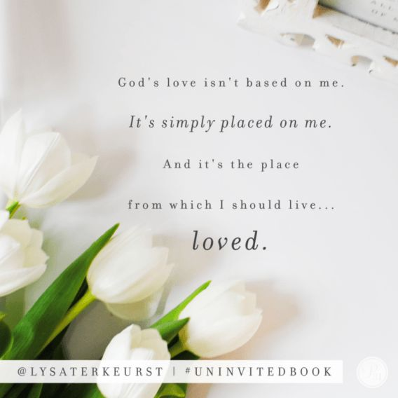 Uninvited book quote via Lysa TerKeurst