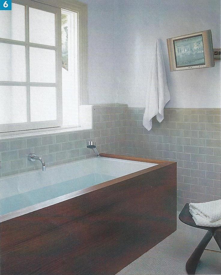 wood clad tub