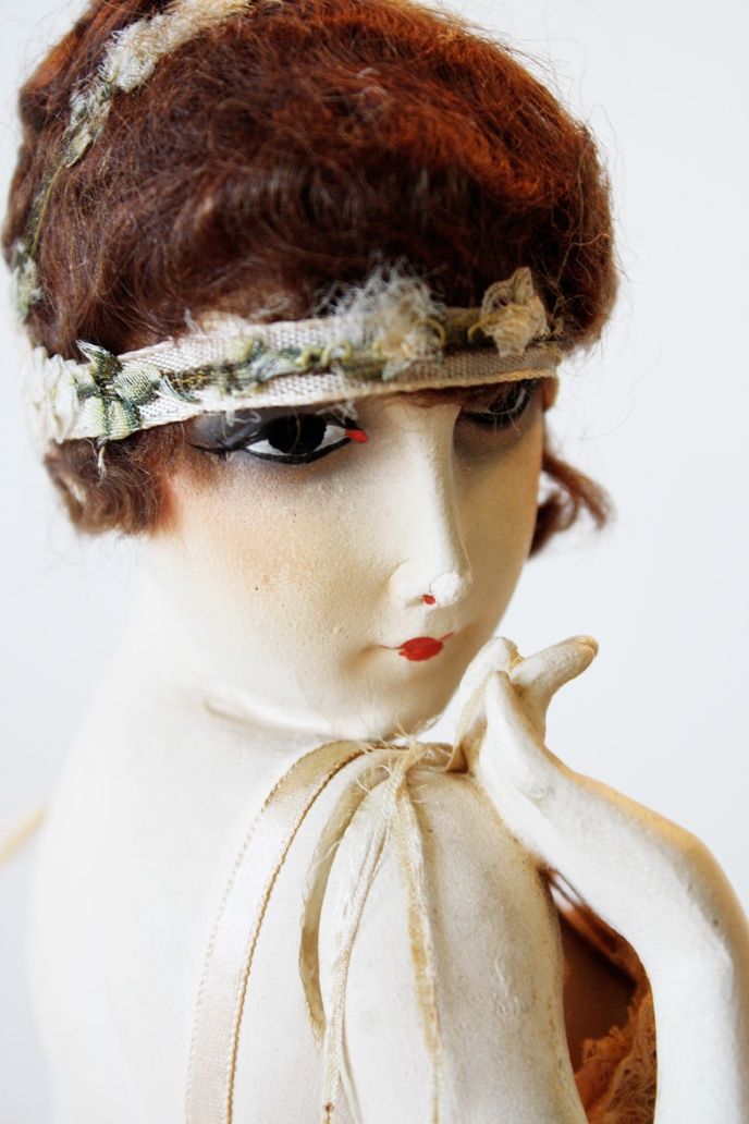 Close up of 1920's French Lingerie Mannequin