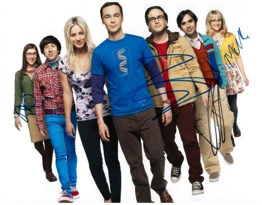 My Big Bang Theory signed cast photo signed by Mayim Bialik, Galecki, Kunal Nayyar and Melissa Rauch
