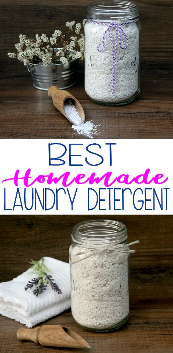 BEST Homemade Laundry Detergent Recipe   Laundry Soap Without Borax! Step by step instructions for
