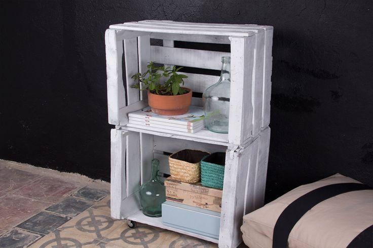 M s de 25 ideas incre bles sobre estanterias recicladas en - Cajones de fruta de madera ...