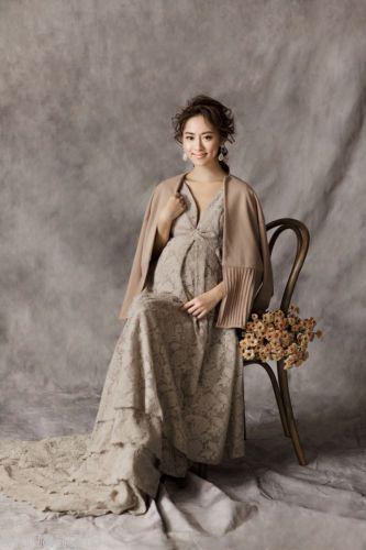 Women-Maternity-Brown-Chiffon-Photography-Props-Studio-Dress