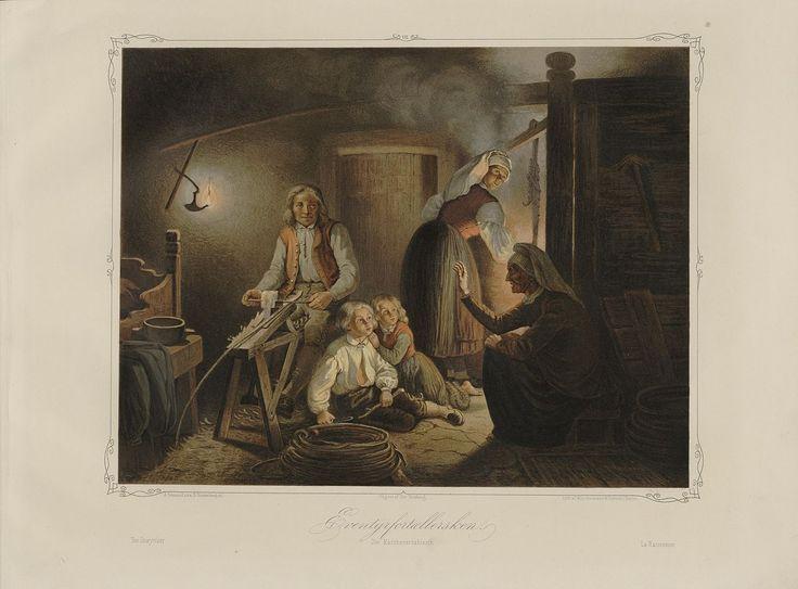 Norske Folkelivsbilleder - Adolph Tidemand - Eventyrfortællersken. jpg (1280×946)