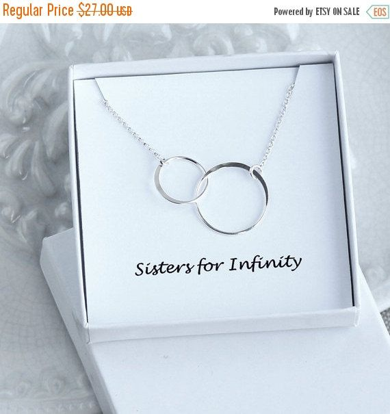 SALE Sisters Necklace Double Circles Necklace Two by JewelleryJKW