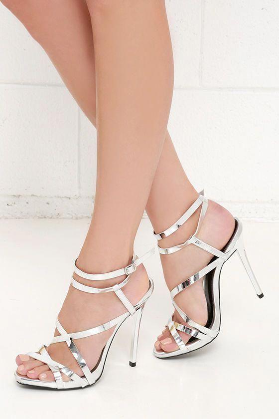 e44ef086fff Let s Groove Tonight Silver Dress Sandals at Lulus.com!  Stilettoheels