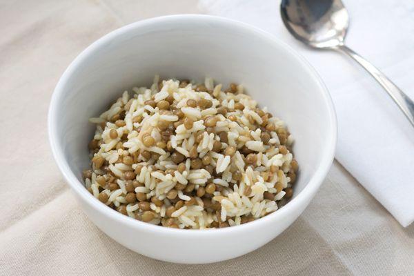 Ricetta Mjadra, riso con le lenticchie - Labna