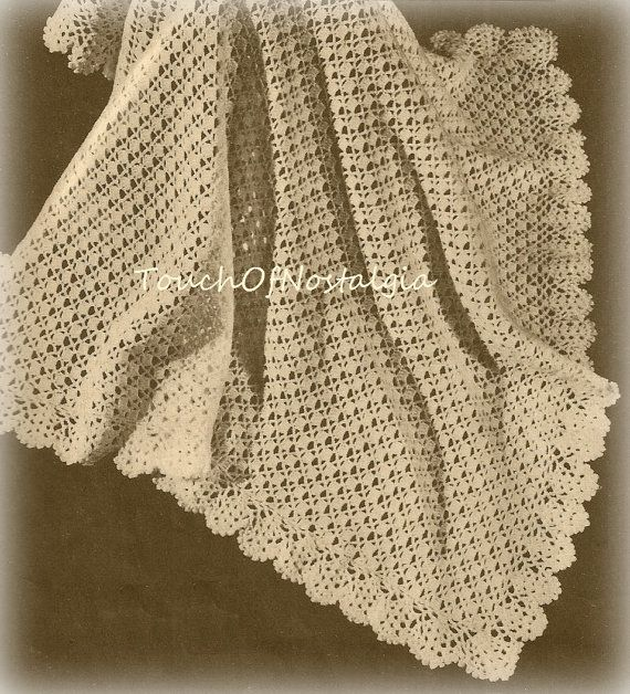 Christening Shawl Knitting Pattern Free : 1000+ ideas about Baby Shawl on Pinterest Knitted baby blankets, Knitting b...