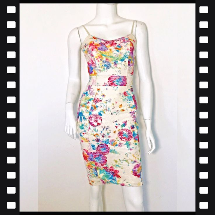 Michelle Keegan for lipsy floral body con knee length dress. It's a size 8 but it's small. BNWOT. RRP$100 selling for $30 + post