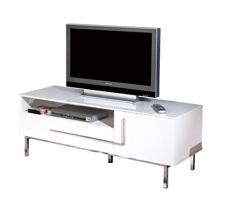 Porta tv moderno Jole 23, mobile per tv bianco, soggiorno di design