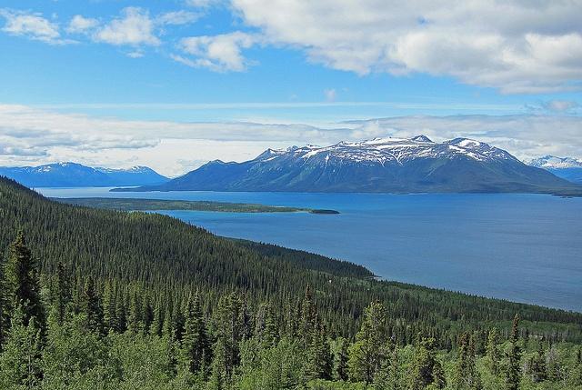 Atlin Lake in northern British Columbia