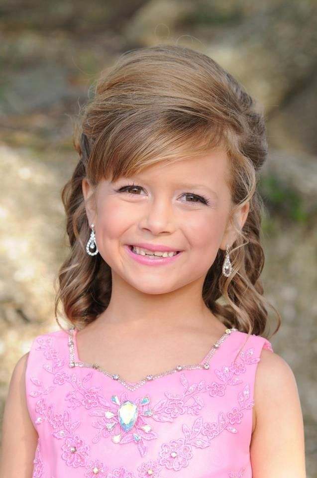 Idea little girl short pageant hairstyles are