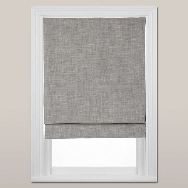 BuyJohn Lewis Croft Collection Shawford Blackout Roman Blind, Storm, W90cm Online at johnlewis.com