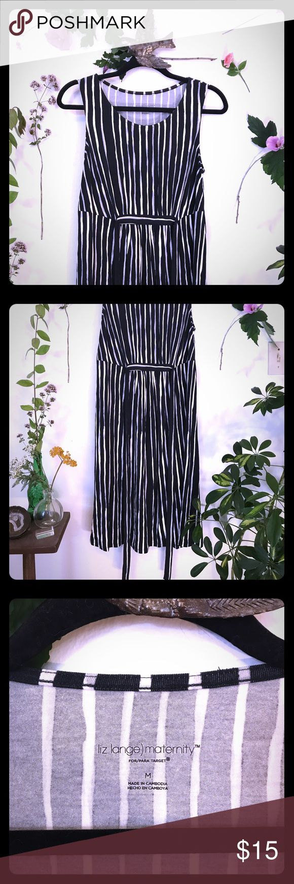 Comfy striped maternity dress 🤰🏻 Target maternity dress! New without tags never worn! Liz Lange Dresses Midi
