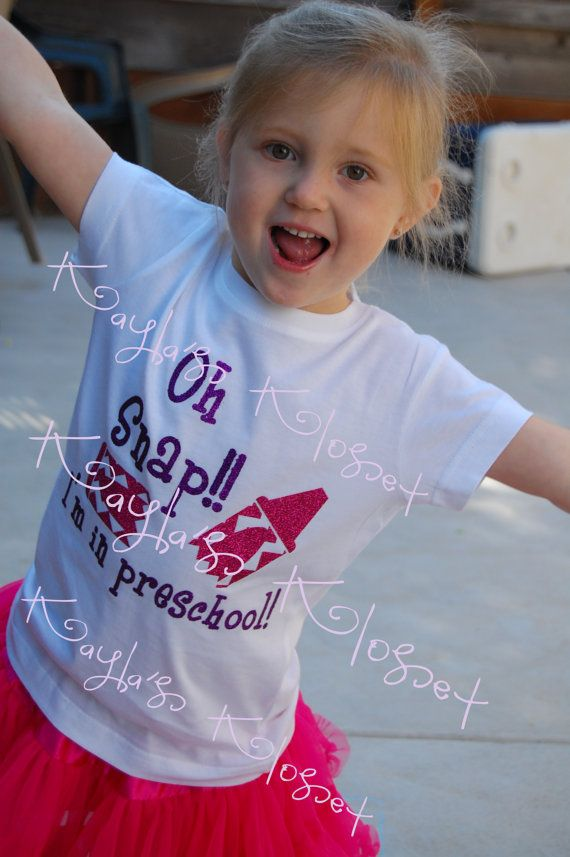 Oh Snap I'm in Preschool First Day of School by KaylasKloset