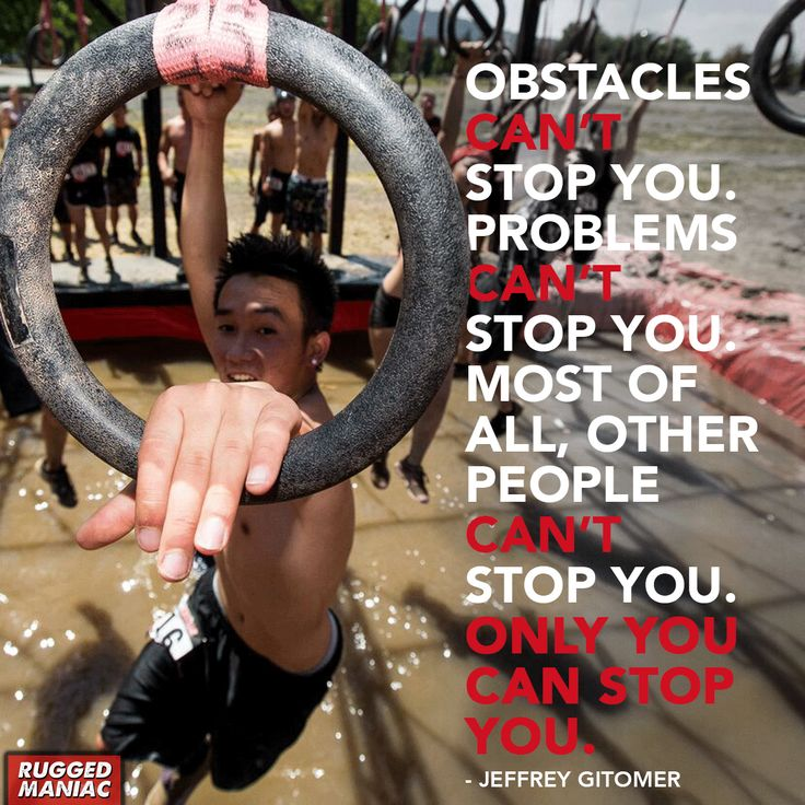 Only you can stop you. Make sure you check out our Rugged Maniac page for discounts and reviews http://www.mudrunguide.com/organizers/rugged-maniac/  #GetRugged #Inspiration