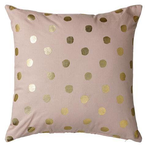 Roze met gouden stippen gedecoreerd kussenhoesje van Bloomingville. Vrolijk je bank of stoel op met dit mooie Bloomingville kussenhoesje. Deens design, hier online!