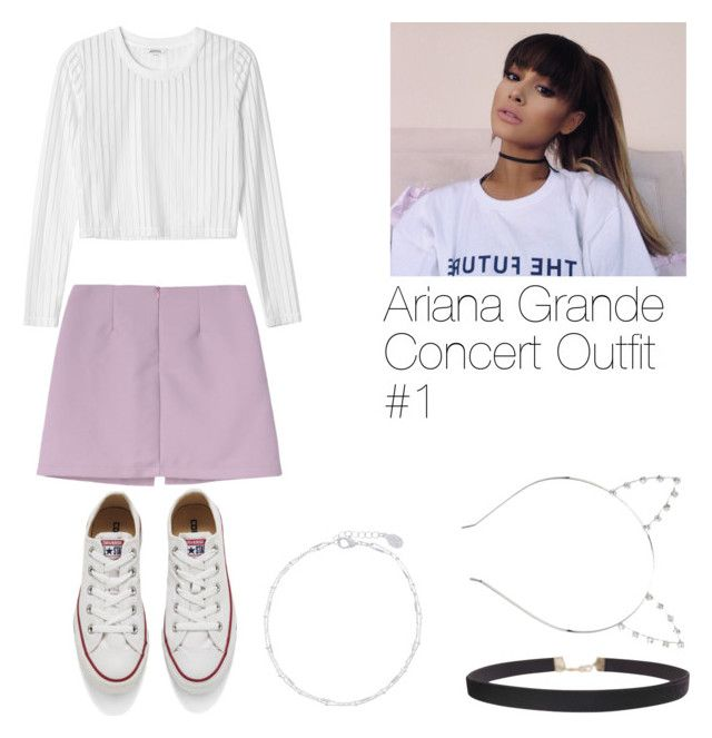 Ariana Grande concert !! by fashngawds on Polyvore featuring Monki, Converse, Humble Chic, Accessorize, set, converse, ArianaGrande, concertoutfits and dangerouswomen