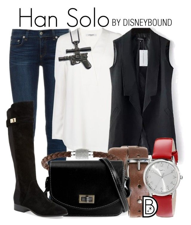 """""""Han Solo"""" by leslieakay ❤ liked on Polyvore featuring rag & bone, L.K.Bennett, Brunello Cucinelli, Thomas Sabo, Nicole Miller, Timex, adidas, disney, disneybound and starwars"""