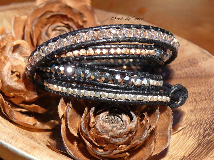 Cristal checo y baño de plata #jewelry #handmade #joyeria #hechoamano #artesania #wraps