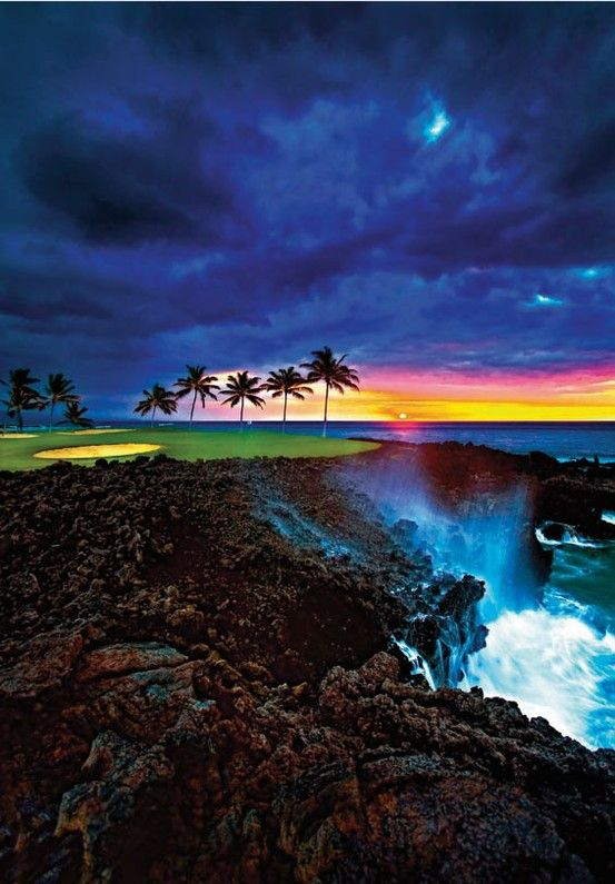 The Beach Course at Hilton Waikoloa Village, The Big Island, Hawaii #golf #hawaii