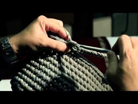 Tutorial: Realizzate la vostra borsa in fettuccia / Réaliser votre sac à main avec le ruban - YouTube