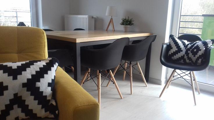 Stol Normano Dab Naturalna Okleina Czarny Drewniany Signal Sklep Z Meblami Mirat Furniture Home Decor Home
