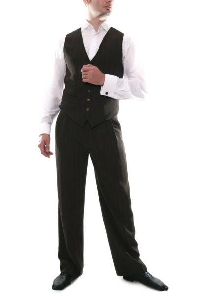 Men's Brown Tango Pants   conSignore Tango Clothes for Men   #tangopants #menstangopants #menstangoclothes #argentinetango